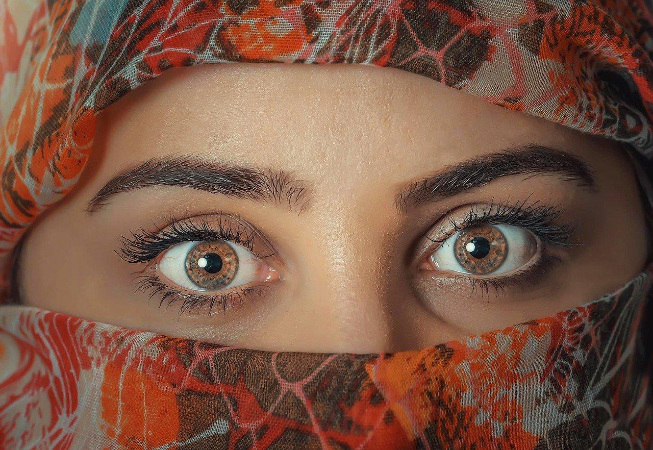 beauty, woman, headscarf