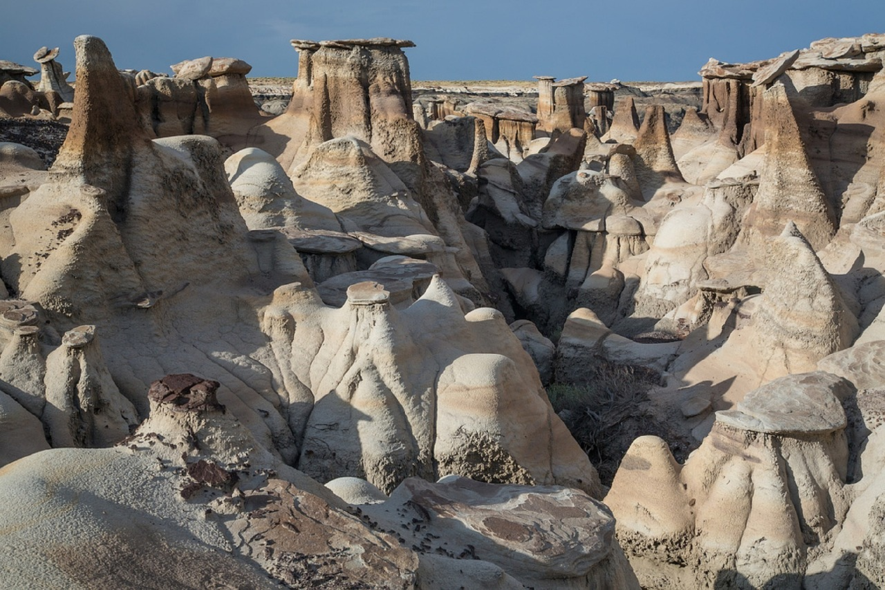 bisti, de-na-zin wilderness, badlands