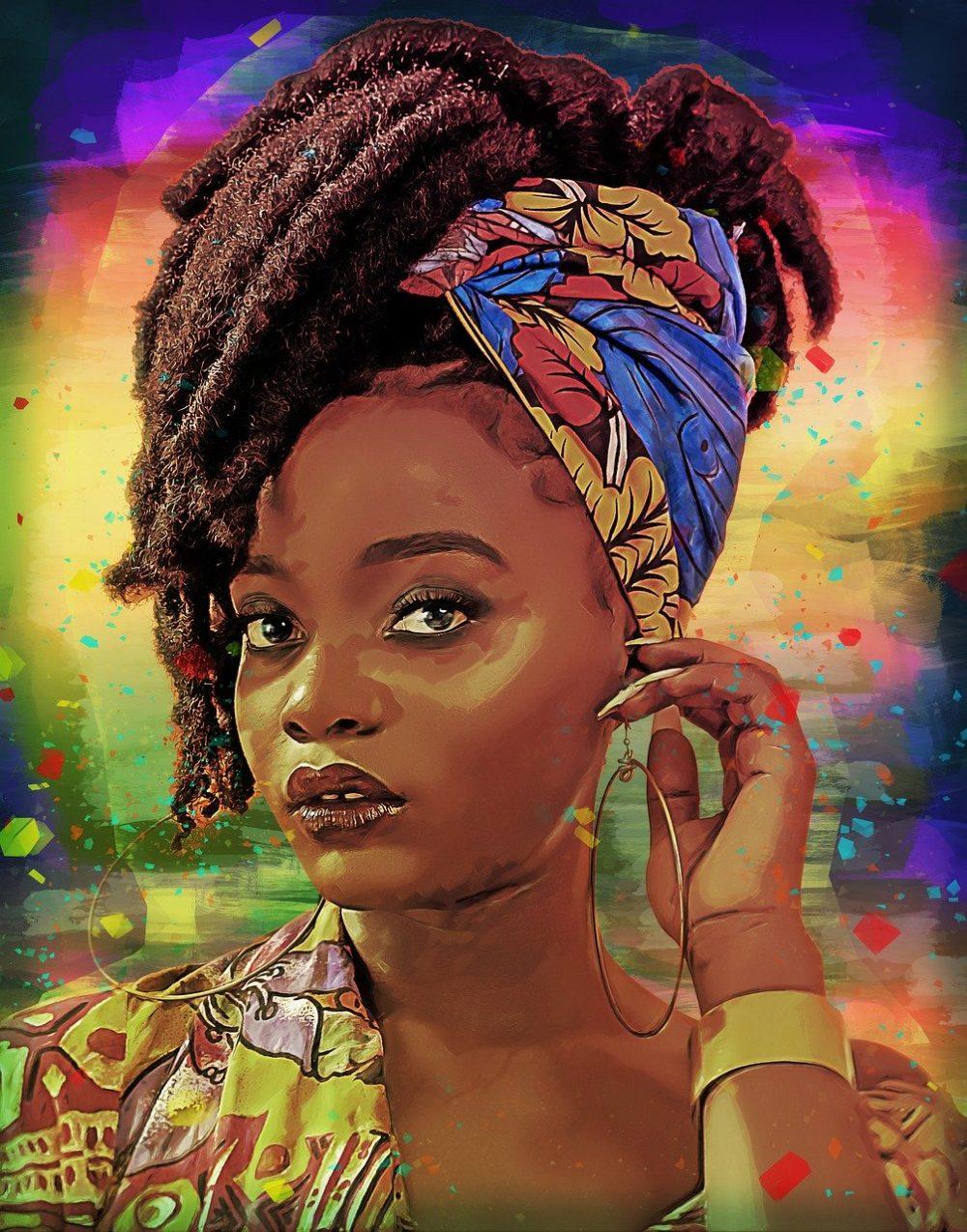 girl, woman, african